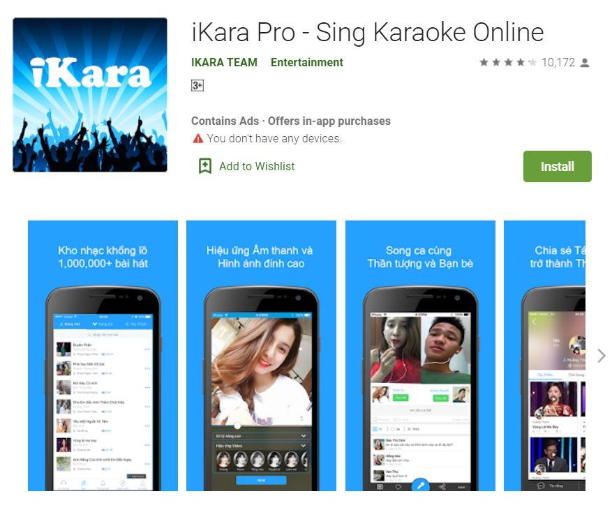 Ứng dụng hát karaoke iKara