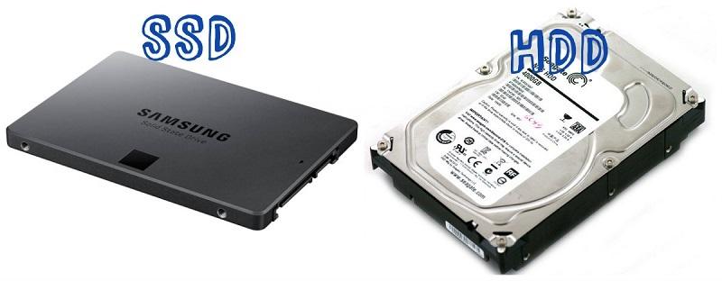 Ổ cứng SSD và HDD