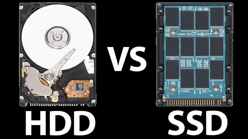 phân biệt ssd và hdd